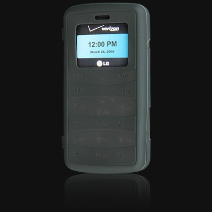 Silicone Skin Cover Case for LG VX9100 enV2 - Black
