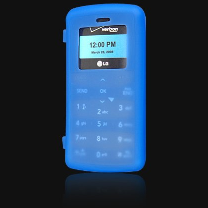 Silicone Skin Cover Case for LG VX9100 enV2 - Blue