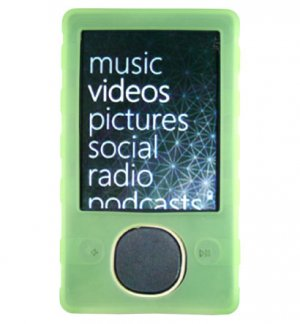 Silicone Skin Cover Case for Microsoft Zune 80GB - Green