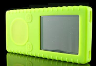 Green Ribbed Silicone Skin Cover Case for Microsoft Zune 4GB / 8GB