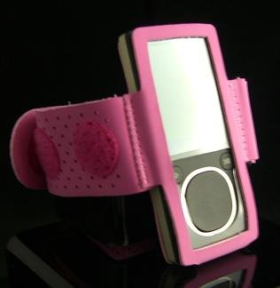 Sports Gym Exercise Workout Armband for Microsoft Zune 4GB / 8GB - Pink