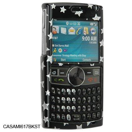 Crystal Shield Protector Case for Samsung BlackJack II (SGH-i617) - BLACK STARS
