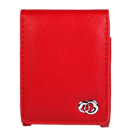 RED Flip Cover Belt Clip Case for Apple iPod Nano (3rd Gen)