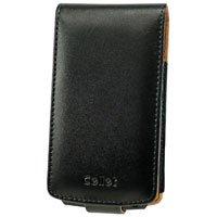 Black Executive Flip Cover Leather Wallet Case for Samsung BlackJack II i617