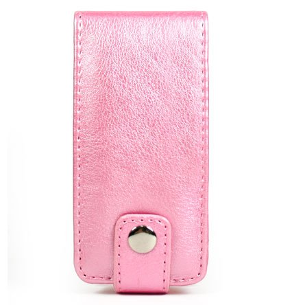Leather Pouch Case for Microsoft Zune 4GB / 8GB - Metallic Pink