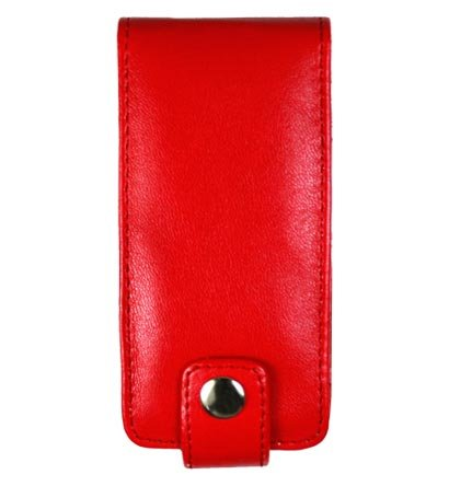 Leather Pouch Case for Microsoft Zune 4GB / 8GB - Red
