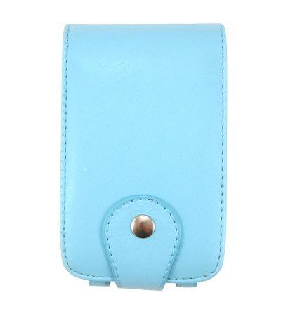 Vertical Leather Flip Cover Pouch Case for Creative Zen Vision M - Blue
