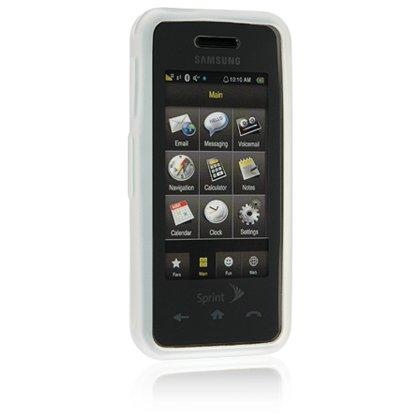 Silicone Skin Cover Case for Samsung Instinct M800 - White