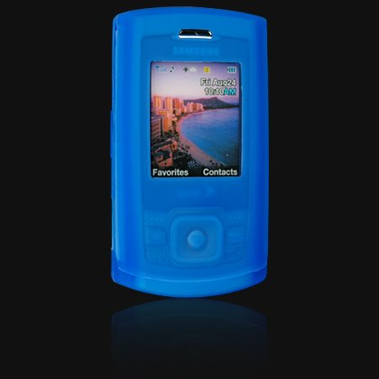 Soft Rubber Silicone Skin Cover Case for Samsung M520 Cell Phone - BLUE