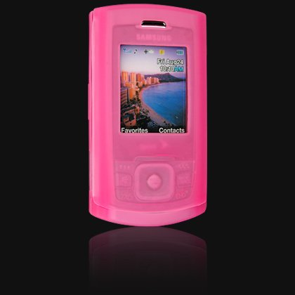 Soft Rubber Silicone Skin Cover Case for Samsung M520 Cell Phone - PINK