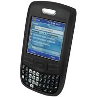 Soft Rubber Silicone Skin Cover Case for Palm Treo 680 Cell Phone - BLACK