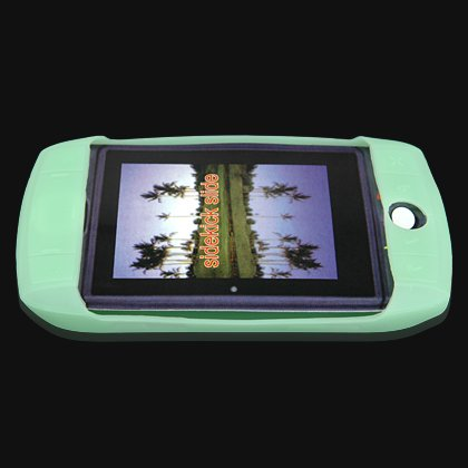 Soft Rubber Silicone Skin Cover Case for T-Mobile Sidekick Slide Cell Phone - Green