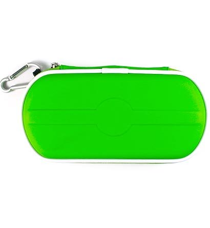 Carrying Cover Case Pouch for Sony PlayStation Portable (PSP 2000) Slim - GREEN