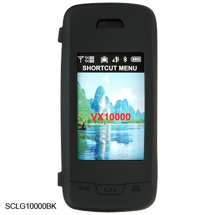 Soft Rubber Silicone Skin Cover Case for LG Voyager VX10000 - Black