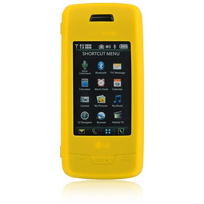 Soft Rubber Silicone Skin Cover Case for LG Voyager VX10000 - Yellow