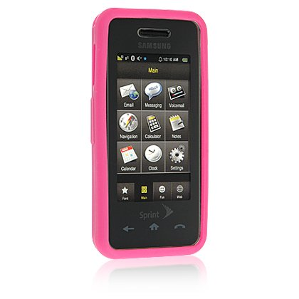 PINK Soft Rubber Silicone Skin Case Cover for SAMSUNG INSTINCT M800 Cell Phone