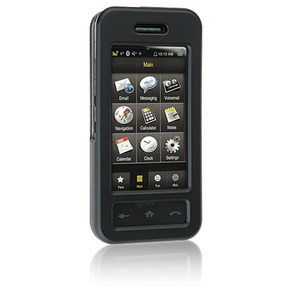 BLACK Hard Plastic Face Plate Shield Protector Case for SAMSUNG INSTINCT M800 Cell Phone