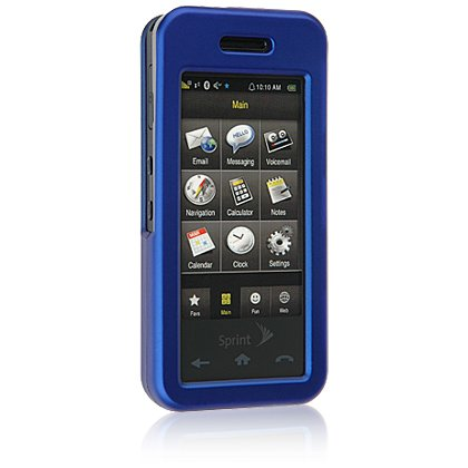 BLUE Hard Plastic Face Plate Shield Protector Case for SAMSUNG INSTINCT M800 Cell Phone