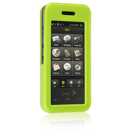 GREEN Hard Plastic Face Plate Shield Protector Case for SAMSUNG INSTINCT M800 Cell Phone