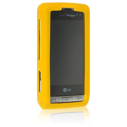 YELLOW Soft Rubber Silicone Skin Cover Case for LG DARE VX9700 Cell Phone