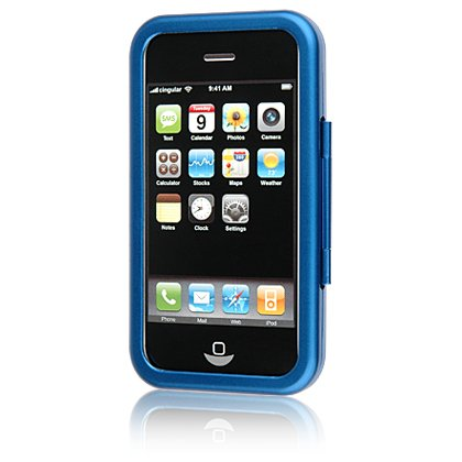 BLUE Aluminum Hard Shell Shield Protector Case for Apple iPhone 3G 2nd Generation Cell Phone