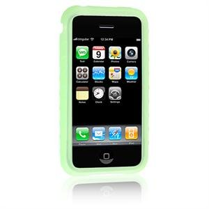 GREEN Full View Ribbed Silicone Skin Cover Case for Apple iPhone 3G