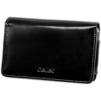 Black Wallet Case with Removable Spring Clip & Swivel Clip for Apple iPhone 3G