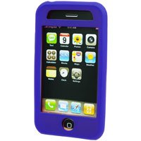 Silicone Rubber Jelly Case for Apple iPhone 3G - SOLID BLUE