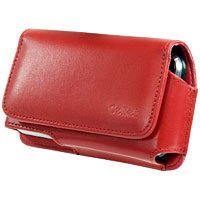 Red Noble Case with Removable Spring Belt Clip for Apple iPhone 3G