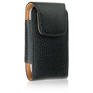 VERTICAL Leather Texture Pouch Case for LG DARE VX9700 - BLACK