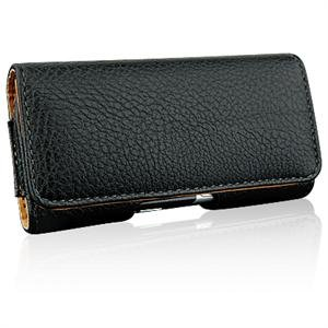 HORIZONTAL Leather Texture Pouch Case for LG DARE VX9700 - BLACK