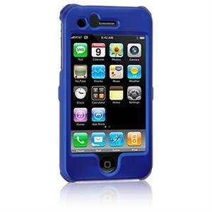 Hard Plastic Shield Protector Faceplate Case for Apple iPhone 3G - BLUE