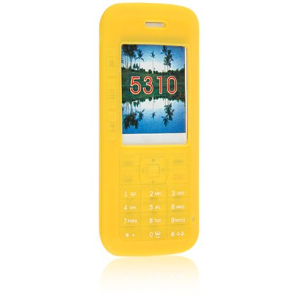 Silicone Skin Cover Case for Nokia 5310 Cell Phone - Yellow