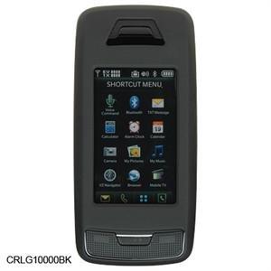 Black Hard Plastic Shield Protector Case for LG VX10000 Voyager