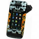 LG Voyager VX10000 Black Proguard W/ Skull & Fire