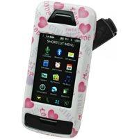 LG Voyager VX10000 White Proguard W/ Pink Hearts