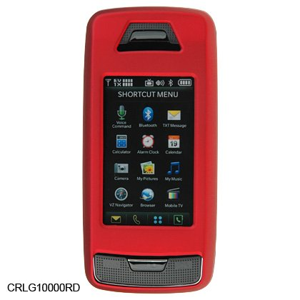 Red Rubber Shield Protector Case for LG VX10000 Voyager