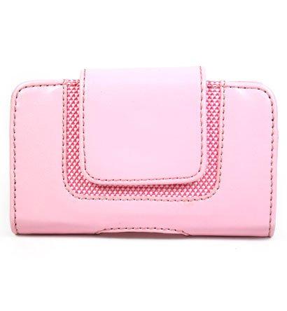 PINK Horizontal Magnetic Wallet Style Belt Clip Case for Blackberry Curve