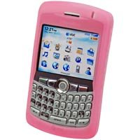 PINK RIM Blackberry 8300 Curve Silicone Case