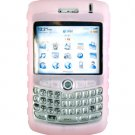 Premium Ribbed Silicone Skin Cover for BlackBerry Curve 8300 - Clear Pink