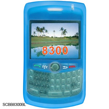 Soft Silicone Skin Cover Case for BlackBerry Curve 8300 - Blue