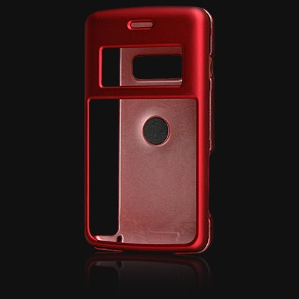 Crystal Hard Shell Shield Protector Case with Belt Clip for LG enV2 VX9100 - Red