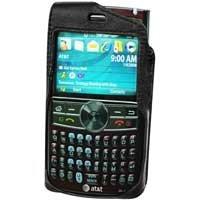 Black Elite Leather Case for Samsung Blackjack II