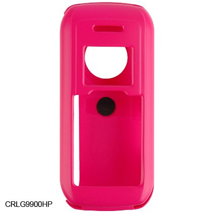 Crystal Hard Shell Shield Protector Case with Belt Clip for LG enV VX9900 - Pink
