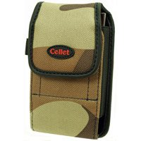 Camouflage Brown & Black Pouch For Samsung BlackJack II With Removable Spring Belt Clip