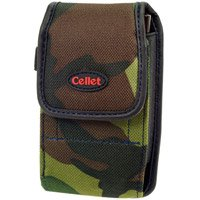 Camouflage Green & Black Pouch For Samsung BlackJack II With Removable Spring Belt Clip