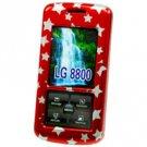 LG Venus VX-8800 Red Proguard with Stars