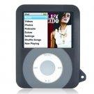 BLACK Two-Tone Silicone Skin for Apple iPod Nano 3rd Generation