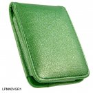 GREEN Flip Cover Leather Pouch for Apple iPod Nano 3