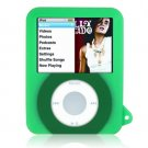 GREEN Two-Tone Silicone Skin for Apple iPod Nano 3rd Generation